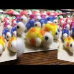 羊毛フェルトのハンドメイド創作品の紹介動画