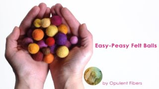 Easy-Peasy Felt Balls