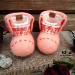Secrets of wool-felting master by ELLUNHUOPA. How to make a felt bootees.