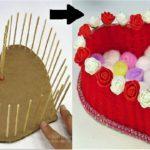 DIY Heart Shaped Basket using Wool / DIY Woolen / Room Decor