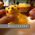 Pikachu Wool felt Creations Making of Tutorial Pokemon