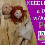 How To Needle Felt Doll Tutorial Part 2: Needle Felting the Faces, eyes, etc