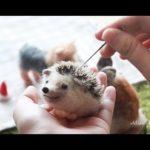#01【羊毛氈教學】小刺蝟羊毛フェルト-Needle felting-Relaxing ASMR Craft Tutorial- (手作、DIY、刺蝟、Hedgehog、舒壓)