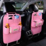 Car Seat Bag Organizer,Woolen Felt Seat Back Protectors for Kids.