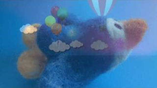 Handmade Woolen felt Works (羊毛フェルト作品) Flying in the sky