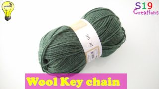 Wool craft ideas | Diy easy bag charm | woolen keychain | waste wool craft ideas | best craft idea