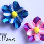 Woolen Flower Making | Woolen Crafts | How To Make Flowers with Wool?