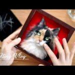【Vlog】#06_猫のヒゲをつける/作品仕上げ 羊毛フェルト制作動画日記 Finish work